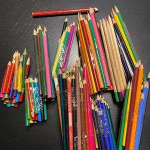 CRAYOLA, DISNEY, PRANG-multicolored pencils
